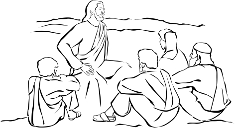 jesus sitting and teaching
